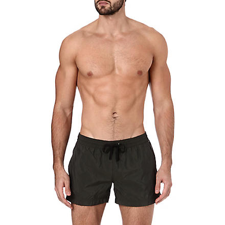 DAN WARD Stripe-detail swim shorts (Khaki