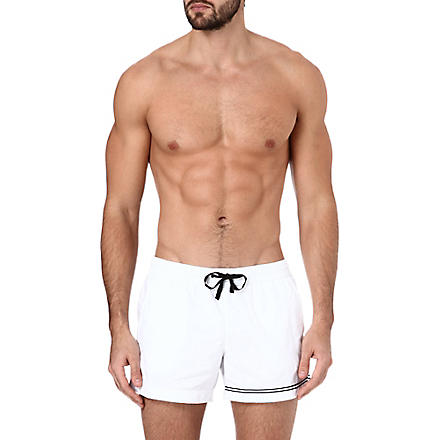 DAN WARD Striped swim shorts (White