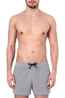DAN WARD Mosaic print swim shorts