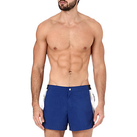 DAN WARD Colourblocked swim shorts (Indigo