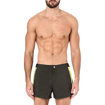 DAN WARD Colourblocked swim shorts (Khaki