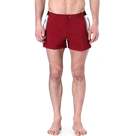 DAN WARD Colourblocked swim shorts (Red