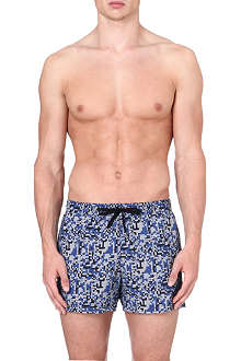 DAN WARD Digital camo-print swim shorts