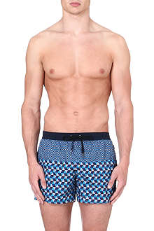 DAN WARD Geometric-print swim shorts