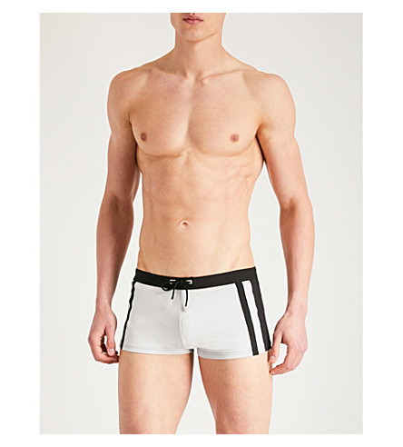 LA PERLA Two-tone regular-fit stretch-cotton trunks Black Clearance Brand New Unisex Outlet With Paypal Marketable Cheap Online Outlet For Nice XjKbs