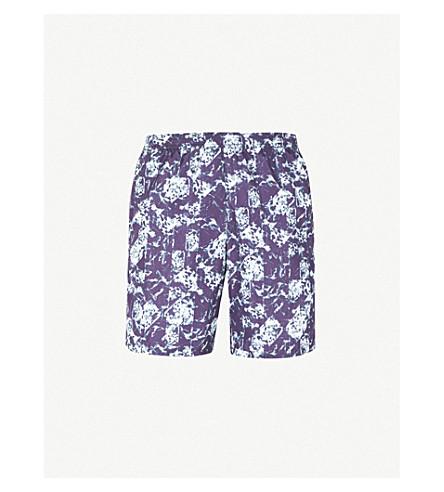 LA PERLA 水普拉印游泳短裤 (海军