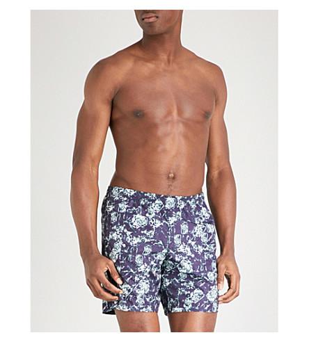 LA PERLA Aqua Pura printed swim shorts (Navy