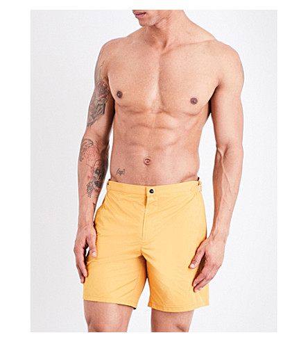 LA PERLA Solid Bermuda swim shorts (Honey