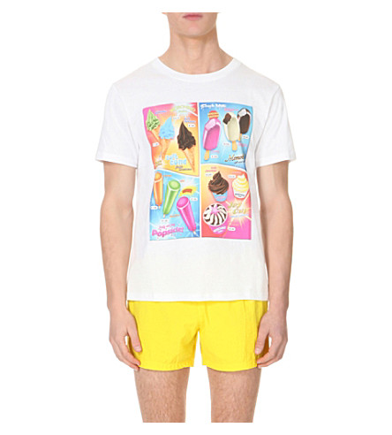 MOSCHINO Ice Cream Menu cotton-jersey t-shirt (White