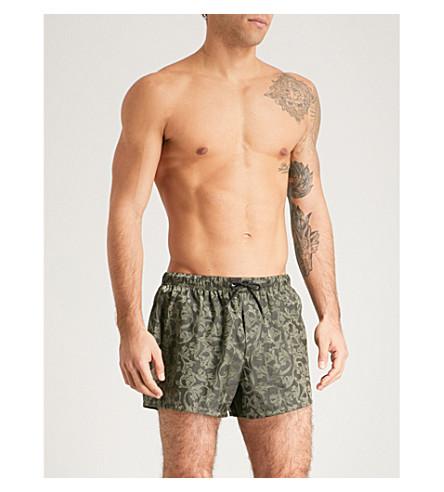 VERSACE Baroque swim shorts (Khaki