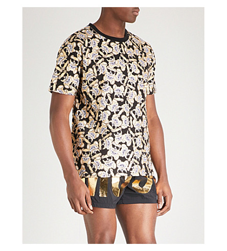 MOSCHINO Teddy cotton-jersey T-shirt (Gold