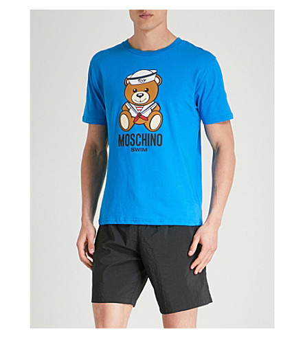 Discount Pre Order MOSCHINO Sailor Bear cotton-jersey T-shirt Blue Outlet From UK Clearance Discounts 0olqBo