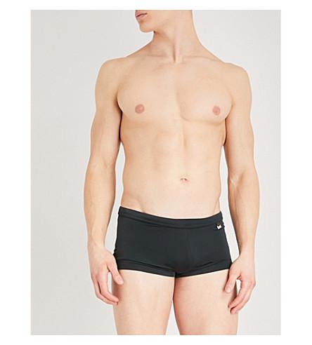 HOM Splash mid-rise swim trunks (Black
