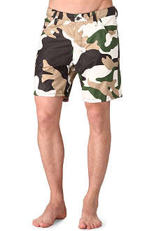 DIESEL Camouflage-print swimming shorts