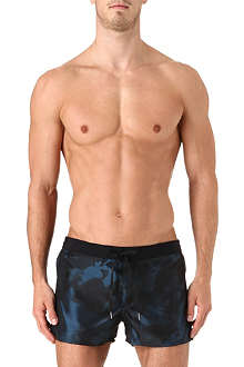 DIESEL Metallic printed swim shorts