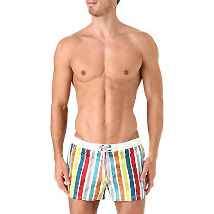 DIESEL Striped swim shorts (Multi