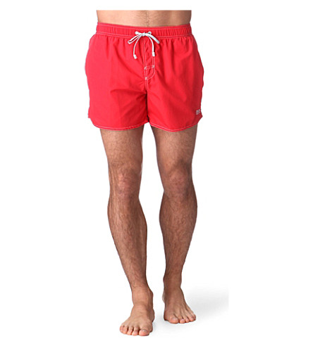 HUGO BOSS Lobster swim shorts (Red
