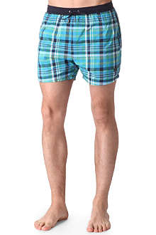 HUGO BOSS Checked swimming trunks