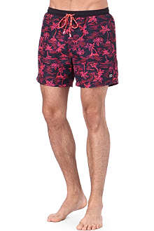 HUGO BOSS Piranha palm tree-print swim shorts