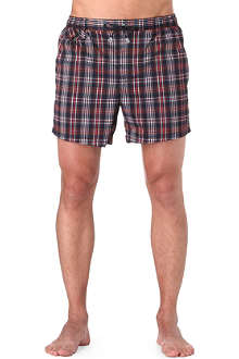 HUGO BOSS Croc shark check swim shorts