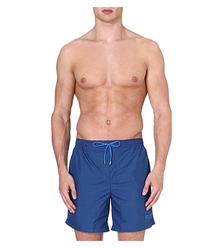 HUGO BOSS Barracuda logo swim shorts (Blue