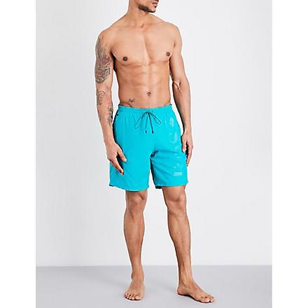HUGO BOSS Orca tonal logo swim shorts (Green