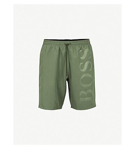 BOSS Orca logo swim shorts (Khaki