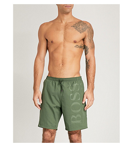 BOSS Orca logo swim shorts (Khaki