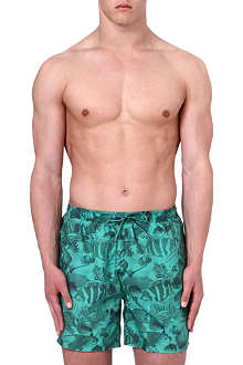 HUGO BOSS Piranha print swim shorts