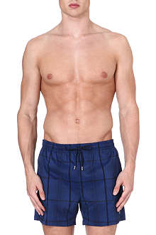HUGO BOSS Checkered swim shorts