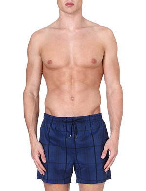 HUGO BOSS Checkered swim shorts