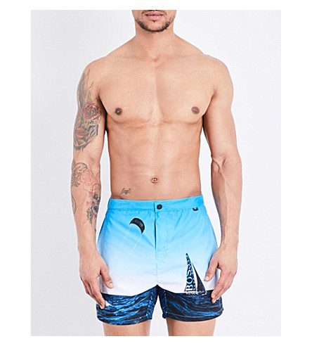 HUGO BOSS Blackfish swim shorts (Navy+multi