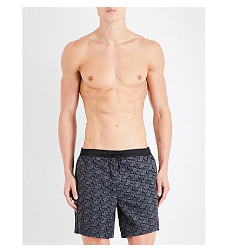 BOSS Paisley-patterned swim shorts (Black