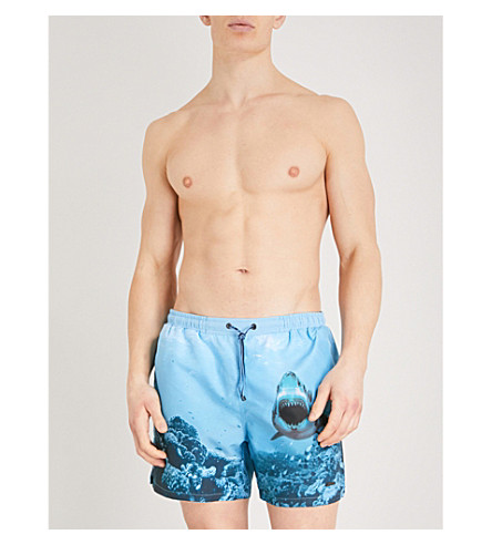 BOSS Shark Attack swim shorts (Blues
