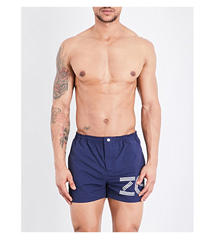 KENZO Logo-print swim shorts (Midnight blue