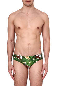 D SQUARED Jungle-print swimming trunks