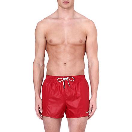 D SQUARED Logo swim shorts (Red
