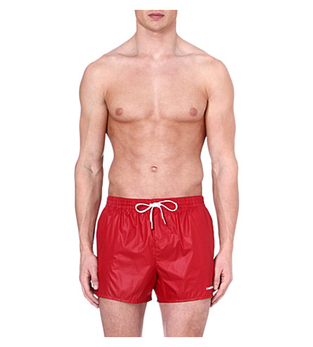 D SQUARED Logo swim shorts (Red
