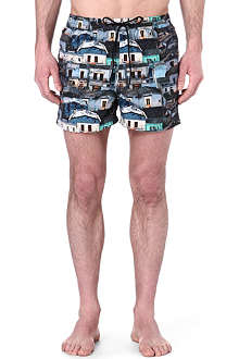 PAUL SMITH Repeat house print swim shorts