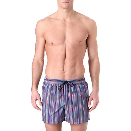 PAUL SMITH Classic multi-striped swim shorts (Blue+multi
