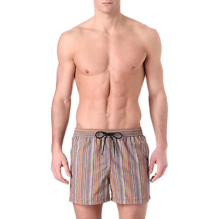 PAUL SMITH Classic multi-striped swim shorts (Multi