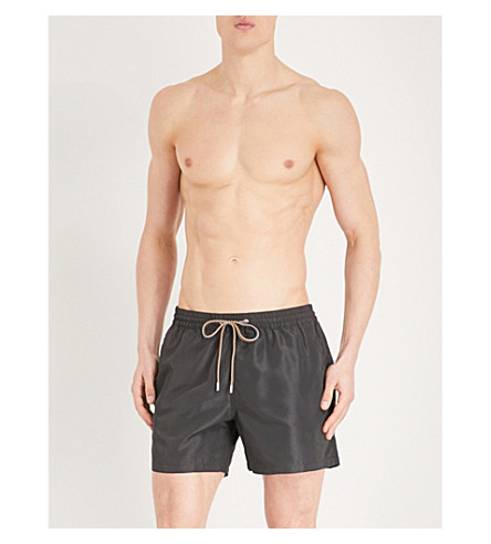 PAUL SMITH Solid drawstring swim shorts (Black