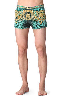 VERSACE Animal-print swim trunks