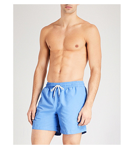 POLO RALPH LAUREN Traveller mid-rise swim shorts (Baby+blue
