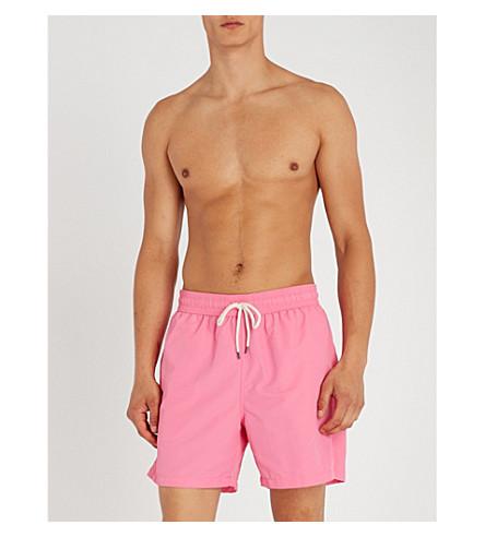 POLO RALPH LAUREN Traveller mid-rise swim shorts (Chroma+pink