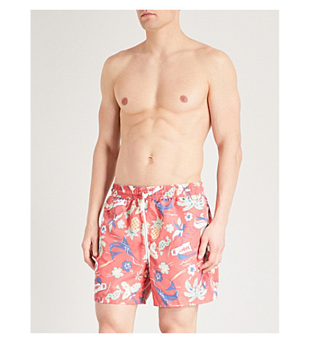 POLO RALPH LAUREN Traveller floral-print swim shorts (Red