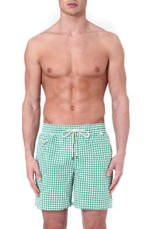 RALPH LAUREN Mini gingham hawaiian swim shorts