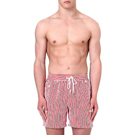 RALPH LAUREN Stripe Hawaiian swim shorts (Red