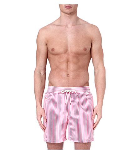 RALPH LAUREN Hawaiian striped swim shorts (Pink
