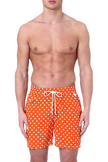 RALPH LAUREN Hawaiian polka-dot swim shorts